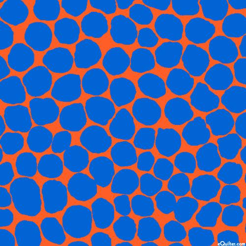 Kaffe Collective - Jumble Dots - Blaze Orange