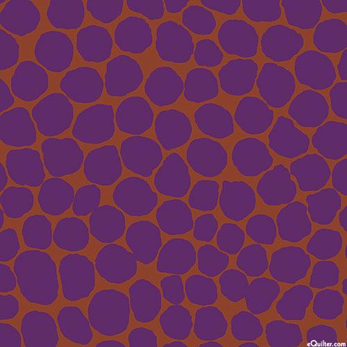 Kaffe Collective - Jumble Dots - Mahogany Brown