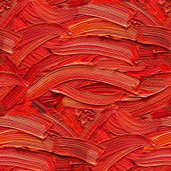 Oil Paint Brushstrokes - Cinnabar Red - DIGITAL PRINT