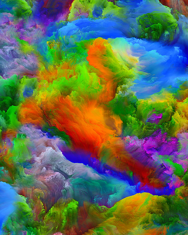 Spectral Paints - Art Abstracts - Multi - DIGITAL PRINT