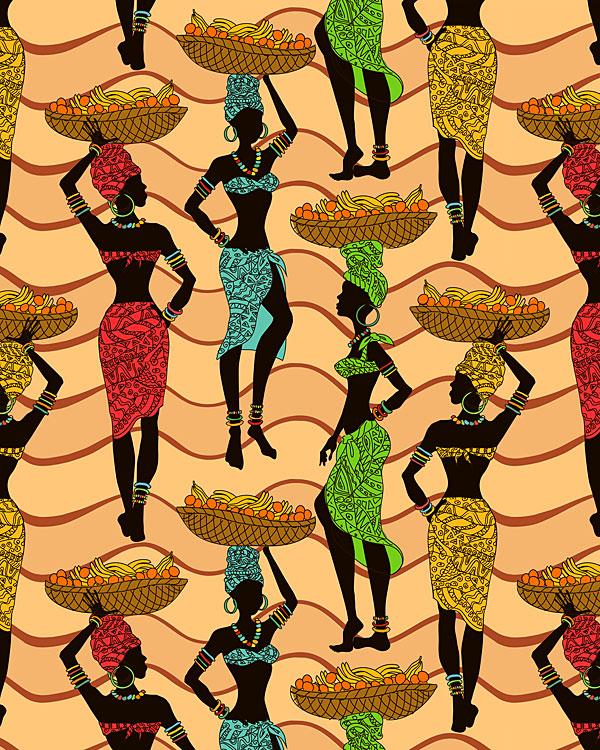 African Women - Market Day - Savannah Tan - DIGITAL PRINT