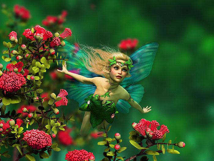 "Fairy Land - Blossom - 32"" x 44"" PANEL - DIGITAL PRINT"