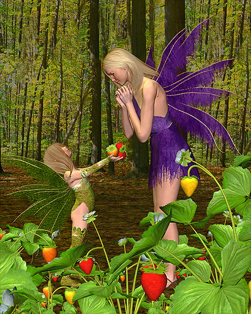 "Fairy Land - Mother's Day - 35"" x 44"" PANEL - DIGITAL PRINT"
