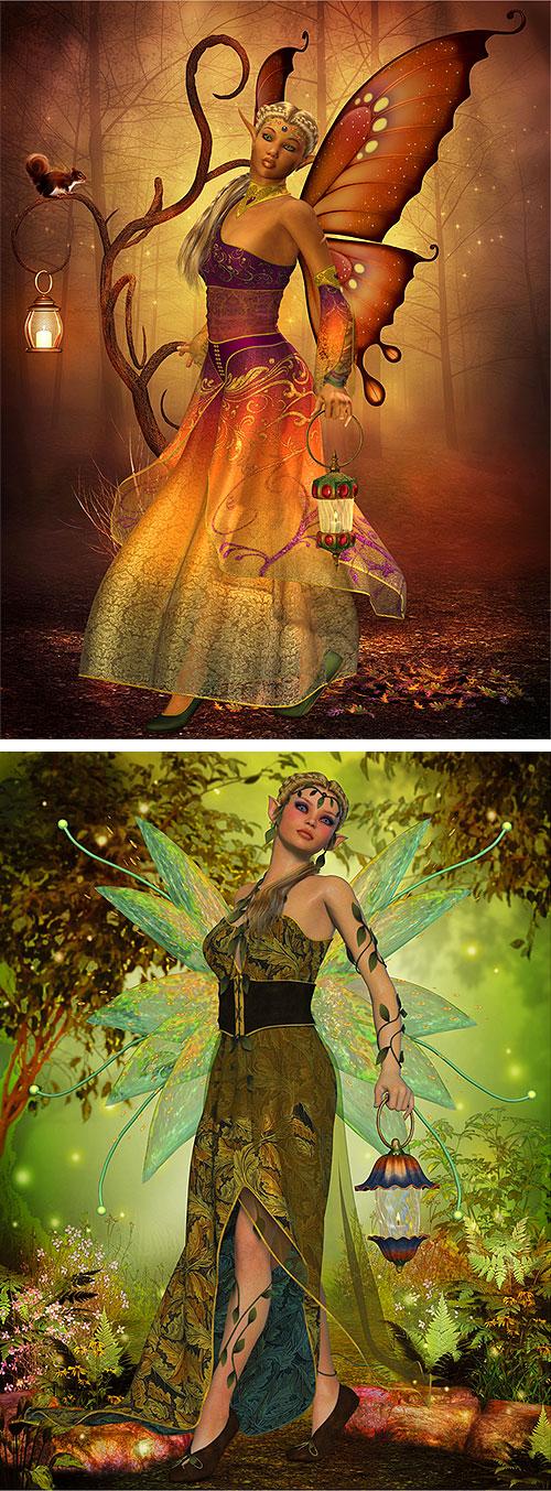 "Fairy Land - Gypsies - 29"" X 44"" PANEL - DIGITAL PRINT"