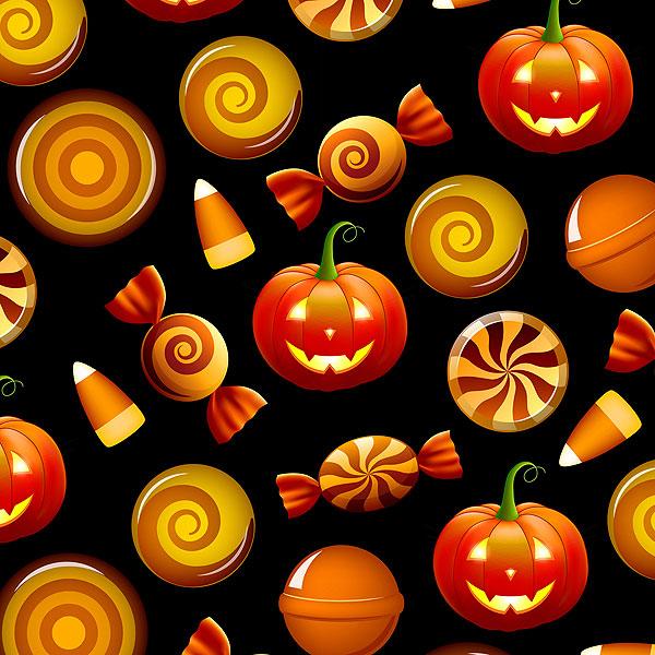 Halloween Candy - Black - DIGITAL PRINT