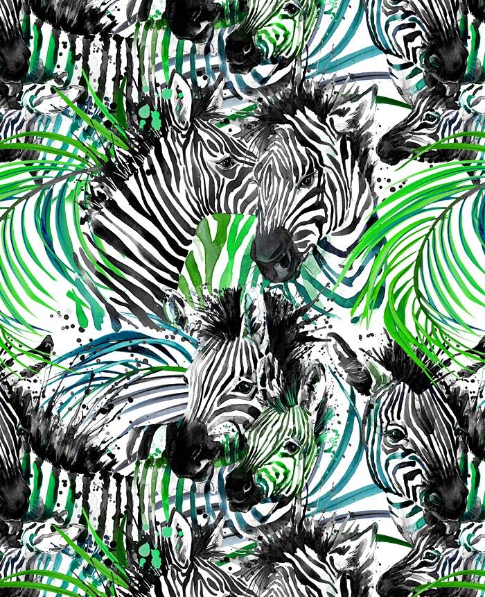 Safari Adventure - Colorful Zebras - Jungle - DIGITAL PRINT