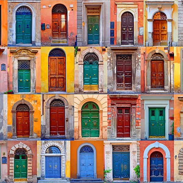 Doors of Rome - Adobe - DIGITAL PRINT