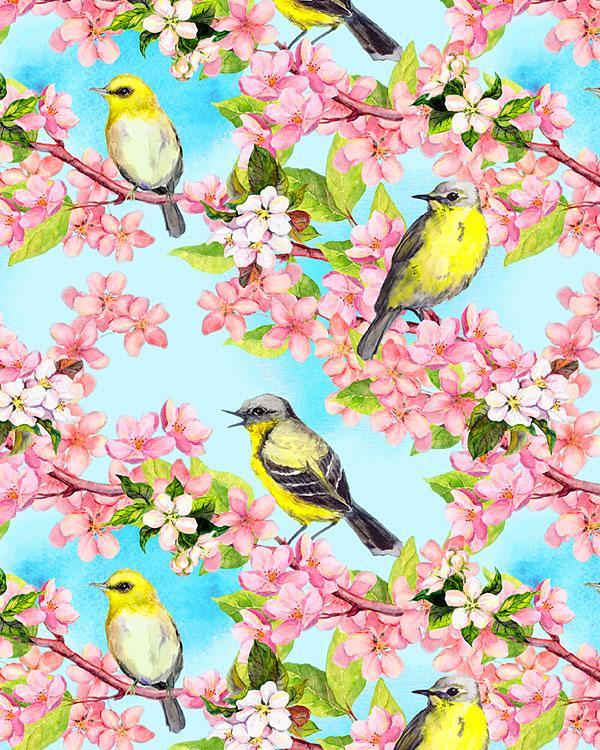 Goldfinches - Dawn Blue - DIGITAL PRINT