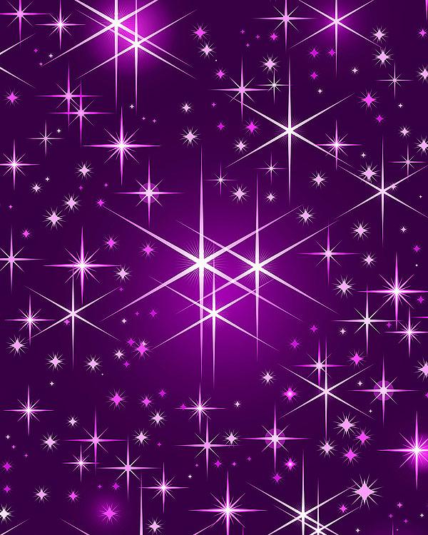 Christmas Stars - Violet Purple - DIGITAL PRINT