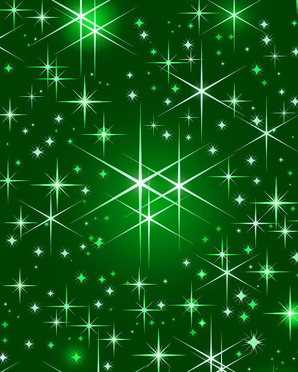 Christmas Stars - Emerald Green - DIGITAL PRINT