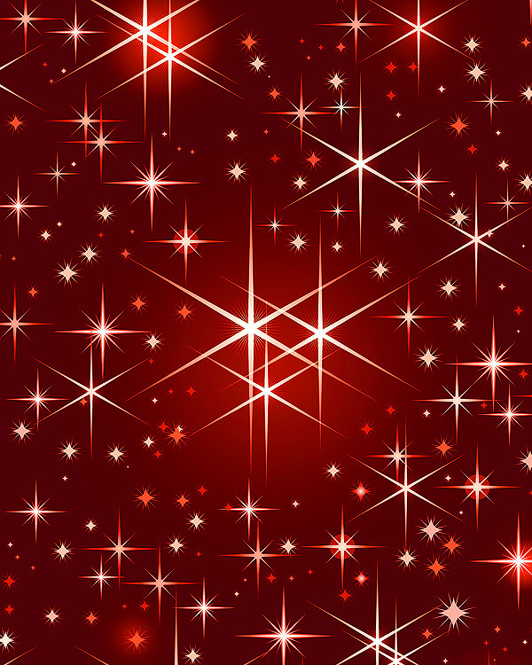 Christmas Stars - Wine Red - DIGITAL PRINT