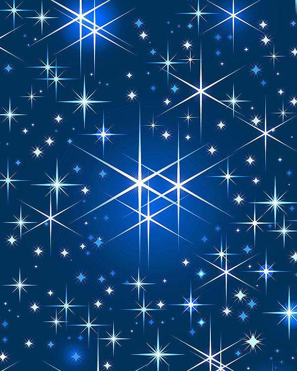 Christmas Stars - Midnight Blue - DIGITAL PRINT