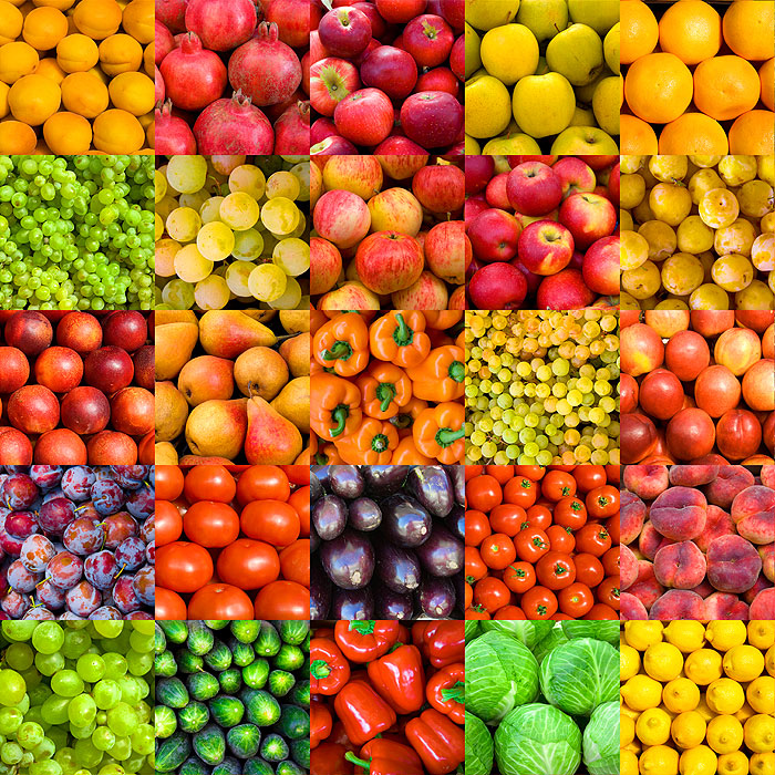 Favorite Fruits & Vegetables - Multi - DIGITAL PRINT