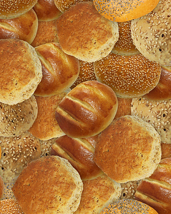 Bakery Delights - Bread Rolls - Toasted Tan - DIGITAL PRINT