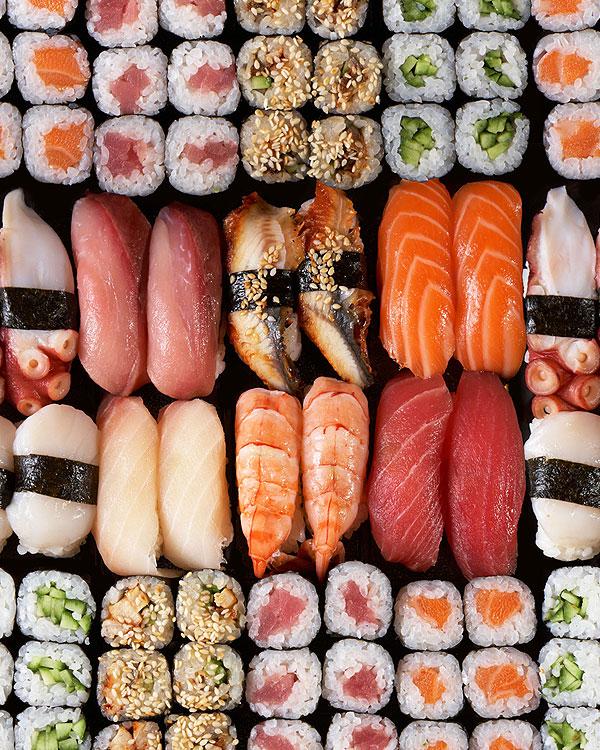 Sushi for Dinner - Black - DIGITAL PRINT