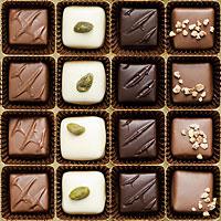 Box of Chocolates - Milk Chocolate Brown - DIGITAL PRINT
