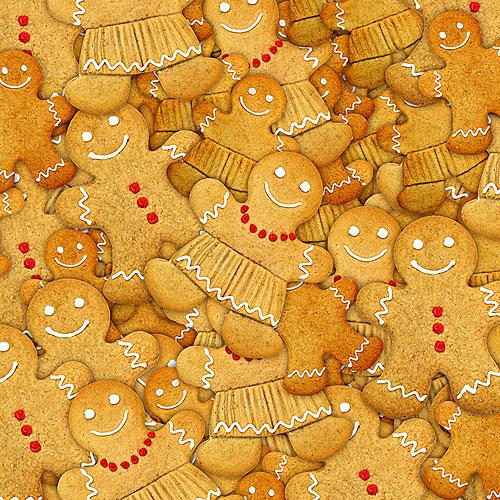 Gingerbread Cookies - Toasted Tan - DIGITAL PRINT