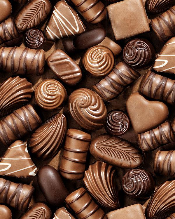 Chocolates Allover - Milk Chocolate Brown - DIGITAL PRINT