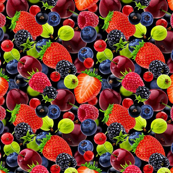 Main Squeeze - Berries Allover - Multi - DIGITAL PRINT