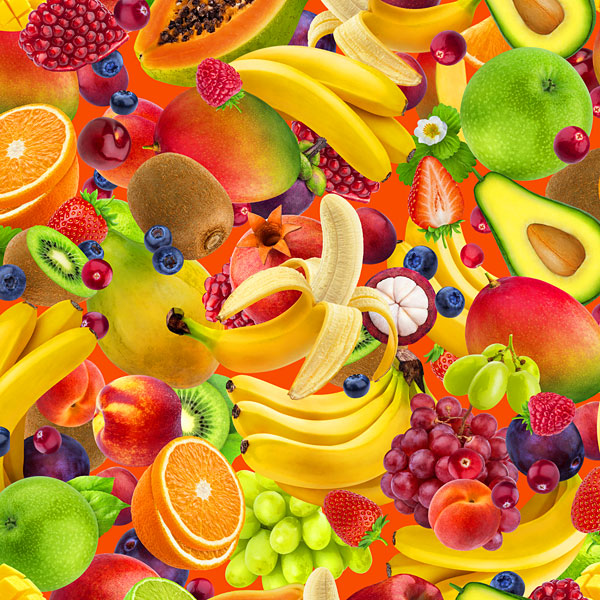 Main Squeeze - Island Fruits - Multi - DIGITAL PRINT