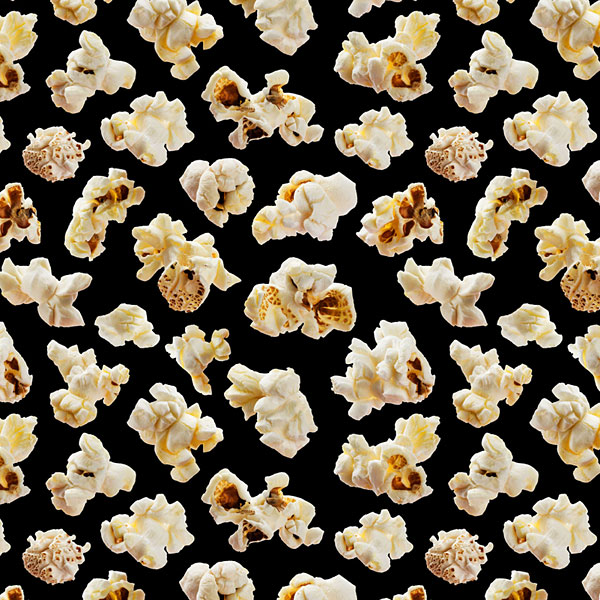 Savory Snacks - Popcorn - Black - DIGITAL PRINT