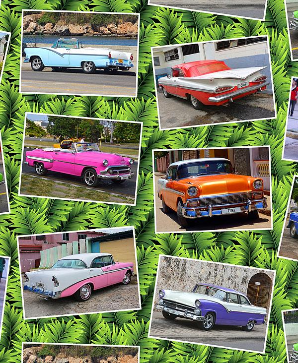 Cuban Car Snapshots - Jungle Green - DIGITAL PRINT