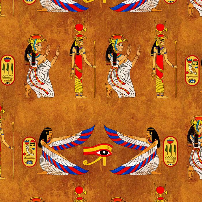 Egyptian Goddesses - Copper Orange - DIGITAL PRINT