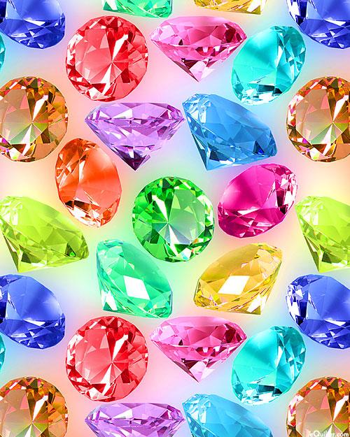 Bling - Gemstone Light - Multi - DIGITAL PRINT