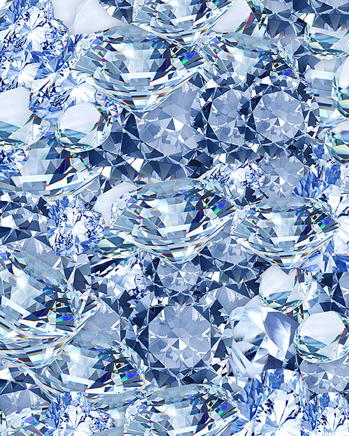 Bling - Diamond Riches - Ice Blue - DIGITAL PRINT