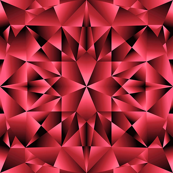 Faceted Gemstone Texture - Ruby Red - DIGITAL PRINT