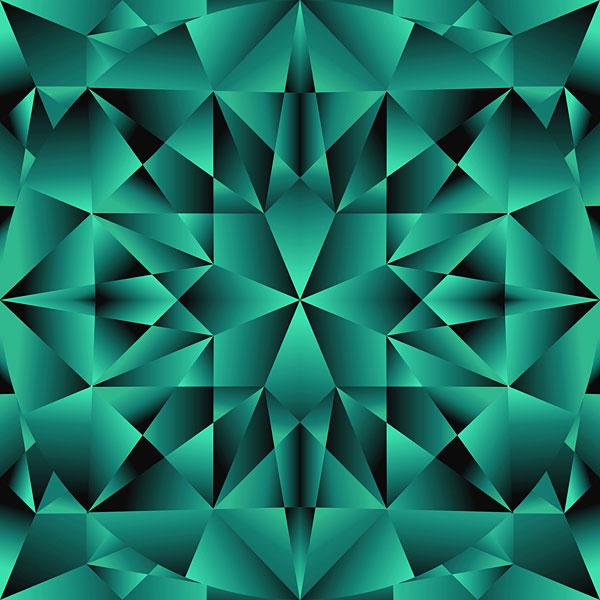 Faceted Gemstone Texture - Emerald Green - DIGITAL PRINT