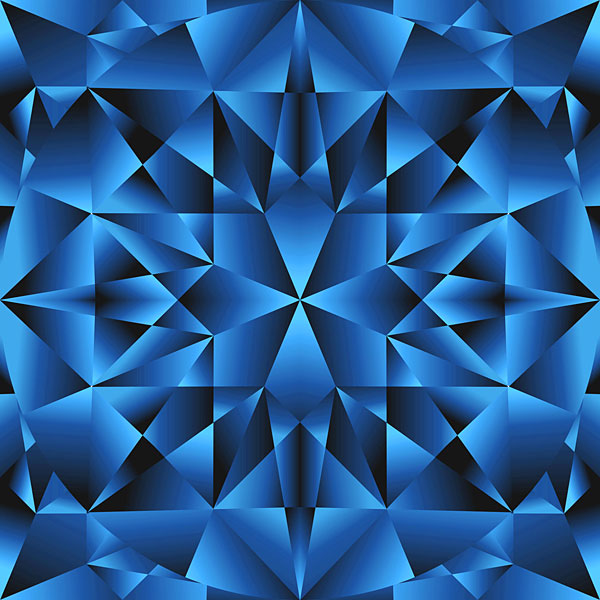 Faceted Gemstone Texture - Sapphire Blue - DIGITAL PRINT
