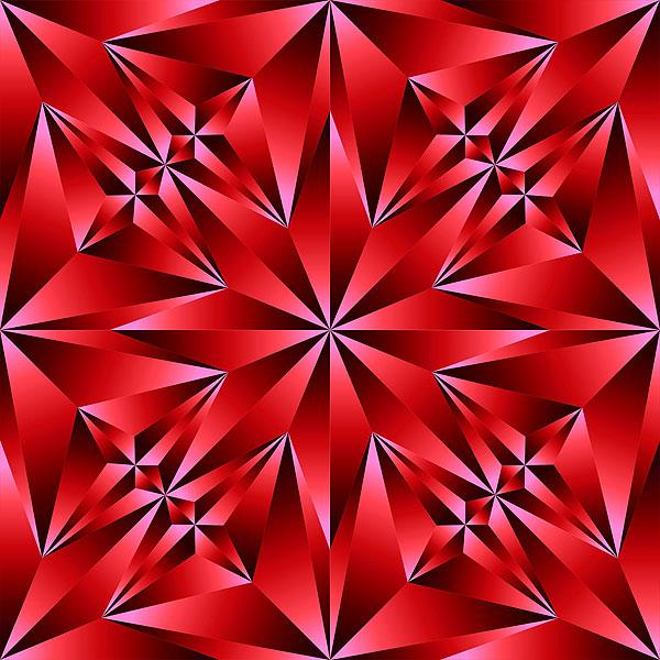 Crystal Cut Texture - Ruby Red - DIGITAL PRINT