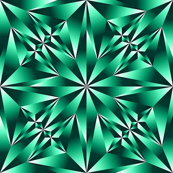 Crystal Cut Texture - Emerald Green - DIGITAL PRINT