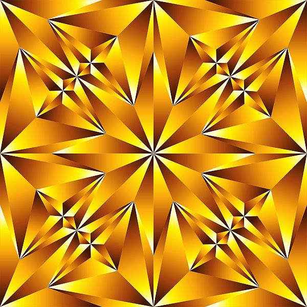 Crystal Cut Texture - Citrine Yellow - DIGITAL PRINT