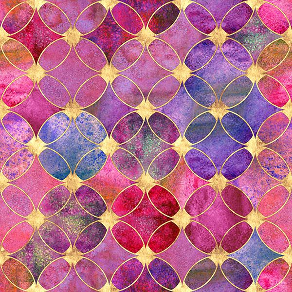 Bejeweled Circles - Orchid Purple - DIGITAL PRINT
