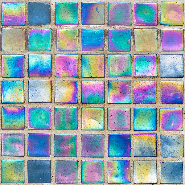 Rainbow Glass Mosaic Tiles - Multi - DIGITAL PRINT