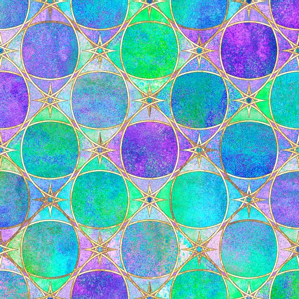 Textured Watercolor Gems - Multi - DIGITAL PRINT