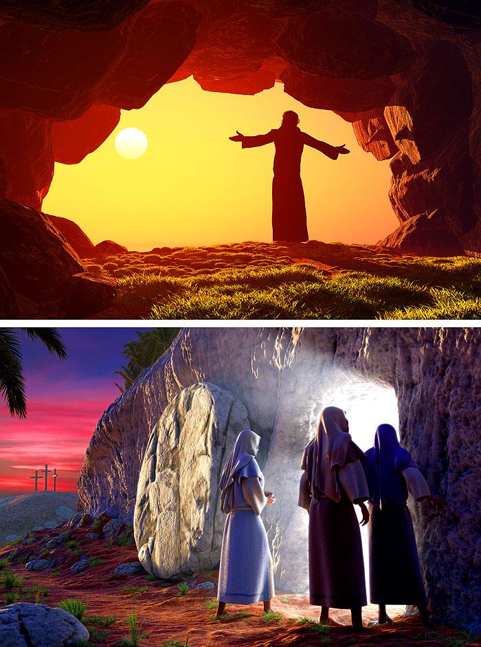 "Prayer - Easter Story - 32"" x 44"" PANEL - DIGITAL PRINT"
