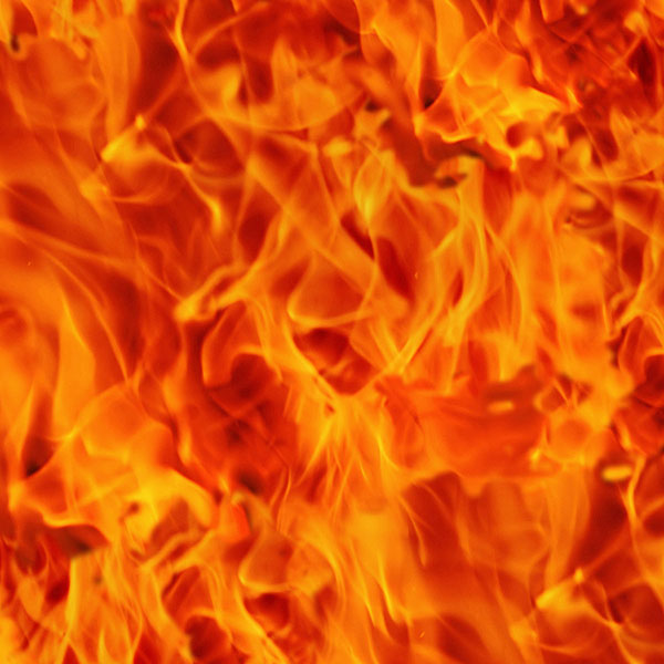 Fire - Five Alarm Flames - Blaze Orange - DIGITAL PRINT