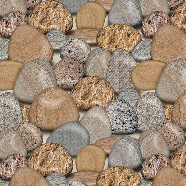 Smooth Stones - Taupe - DIGITAL PRINT