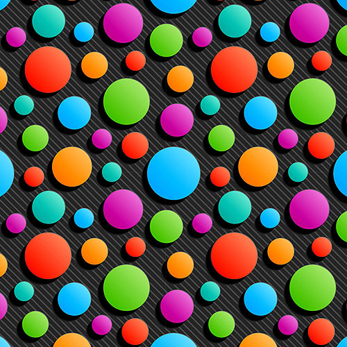 Carnivale Party Dots - Black - DIGITAL PRINT