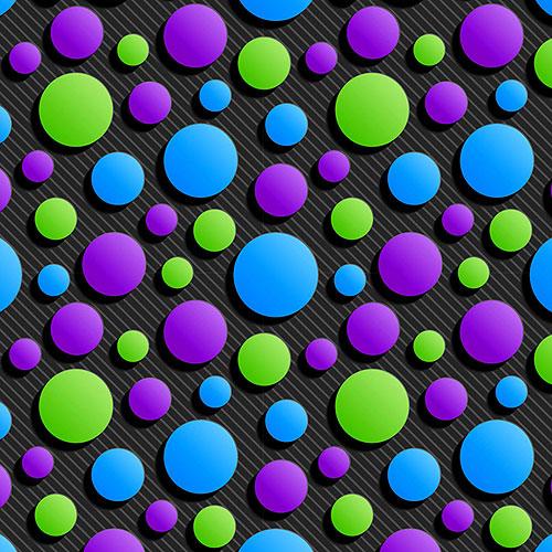 Carnivale Party Dots - Cool/Black - DIGITAL PRINT
