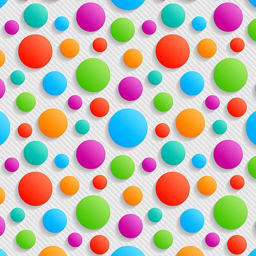 Carnivale Party Dots - Multi/White - DIGITAL PRINT
