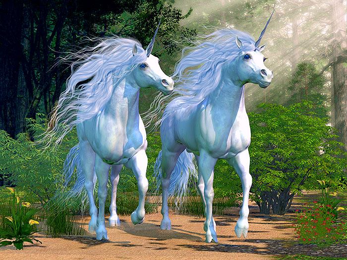"Magic - Unicorn Pride - 32"" x 44"" PANEL - DIGITAL PRINT"