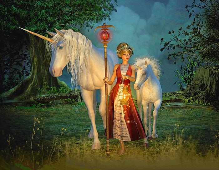 "Magic - Unicorn Guide - 34"" x 44"" PANEL - DIGITAL PRINT"