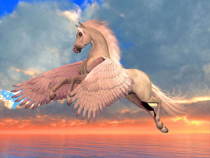 """Magic - Arabian Pegasus - 32"""" x 42"""" PANEL - DESIGNER DIGITAL"""