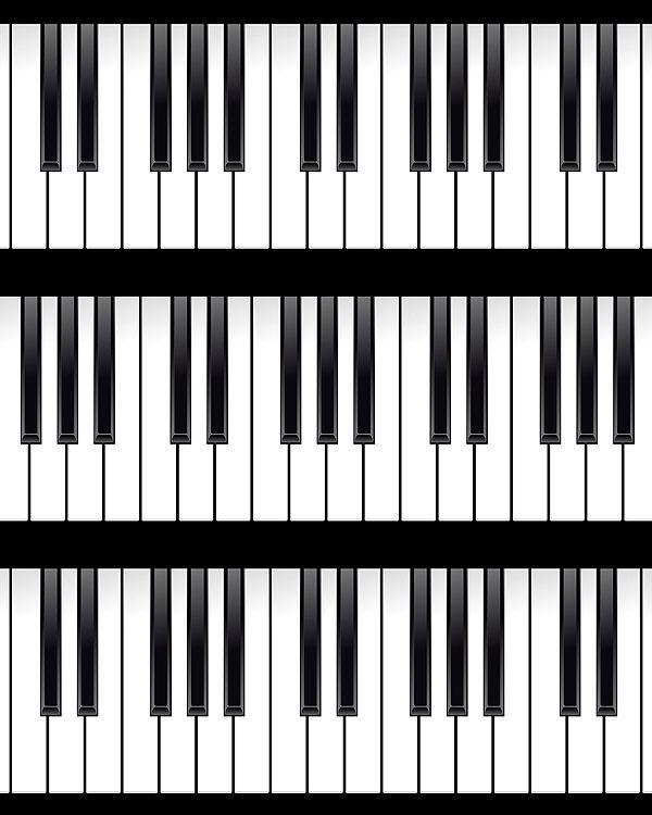 Piano Keys - Black/White - DIGITAL PRINT
