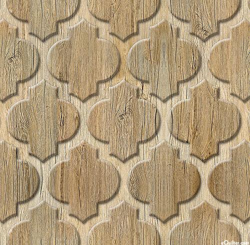 Arabic Wood Decor - Driftwood Brown - DIGITAL PRINT