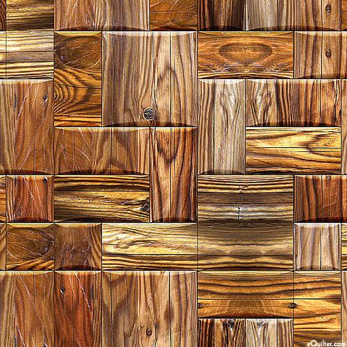 Beveled Wood Blocks - Rustic Brown - DIGITAL PRINT